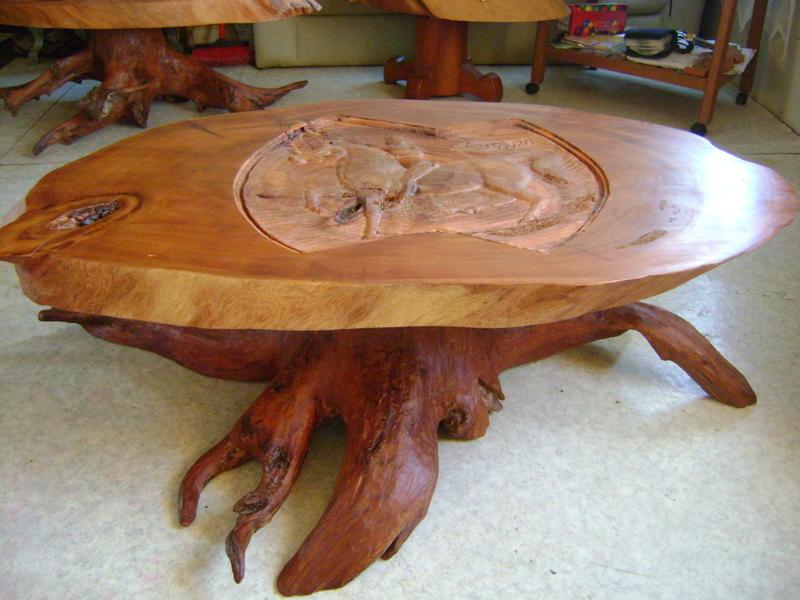 Muebles de alerce rustico: mesas de centro de alerce
