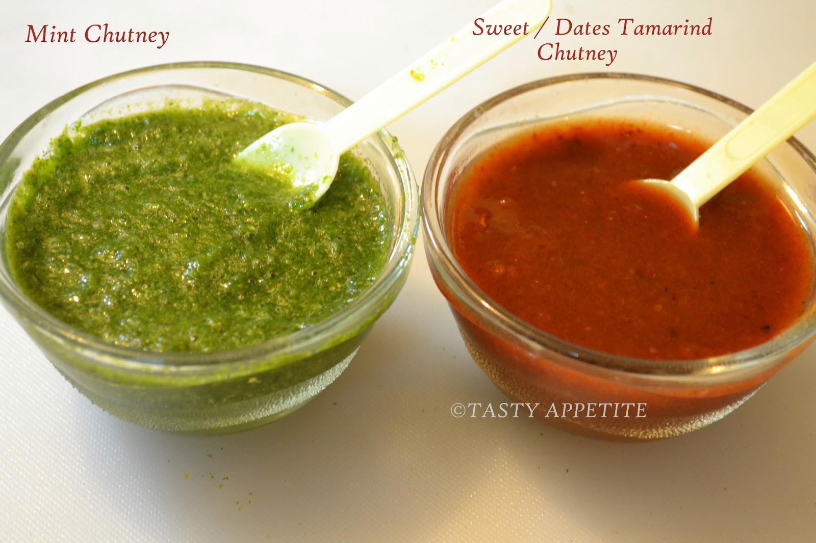 How to make Green Chutney & Sweet Chutney for Chats ...  Samosa