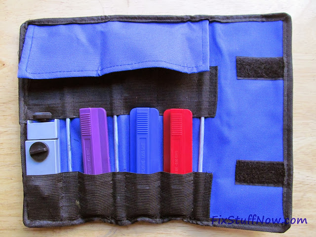 EZE-LAP DMD Fixed Angle Knife Sharpening System - Pouch Opened With Flap closed
