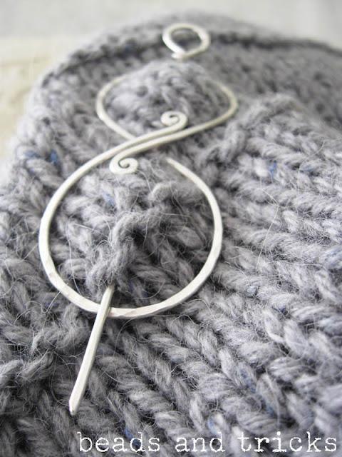 spilla da scialle (shawl pin) in argento sterling