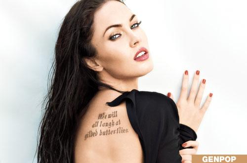 megan fox tattoos megan fox tattoos say