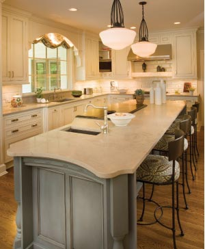 Limestone Countertops : Michael Homchick Stoneworks: COLORFUL Painted kitchen cabinets