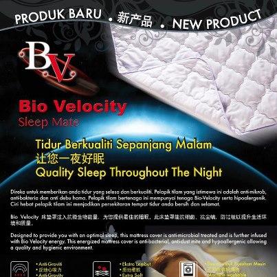 Pelapik tilam bio velocity bio velocity sleep mate