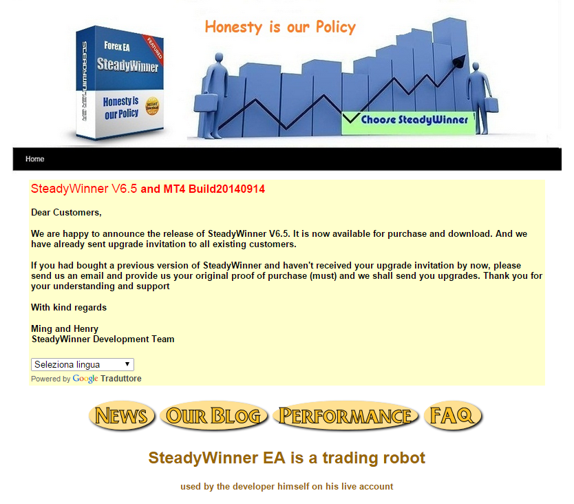 Forex steadywinner ea