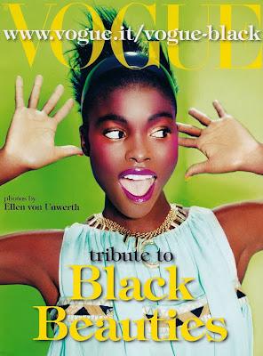 >Black Beauties for Vogue Italia