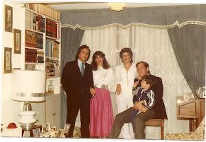Felix y Loly con los padrinos de mi hijo Alex, Cesar y Emira.
