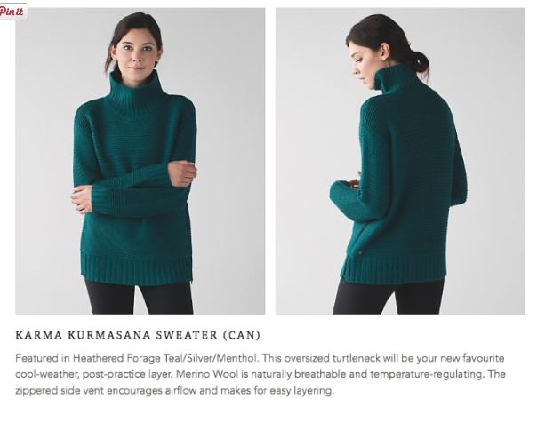 lululemon karma-kurmasana-sweater