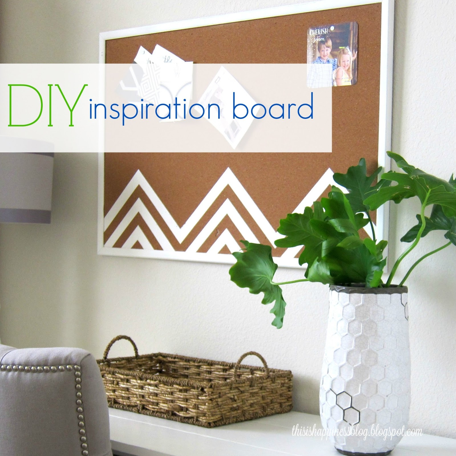This is happiness diy inspiration board for Cork board inspiration