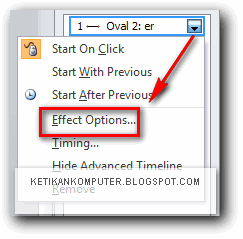 Effect options power point