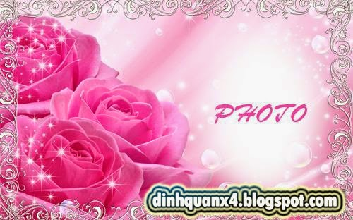 Photo Frame - Pink Roses