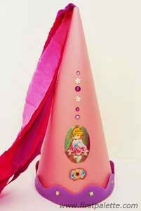 Super fun kids crafts for Princess cone hat template