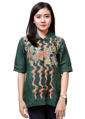 Model Baju Atasan Batik Terbaru 2016 yang Fashionable