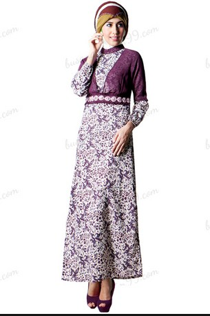 Model Baju Batik Muslim Elegan
