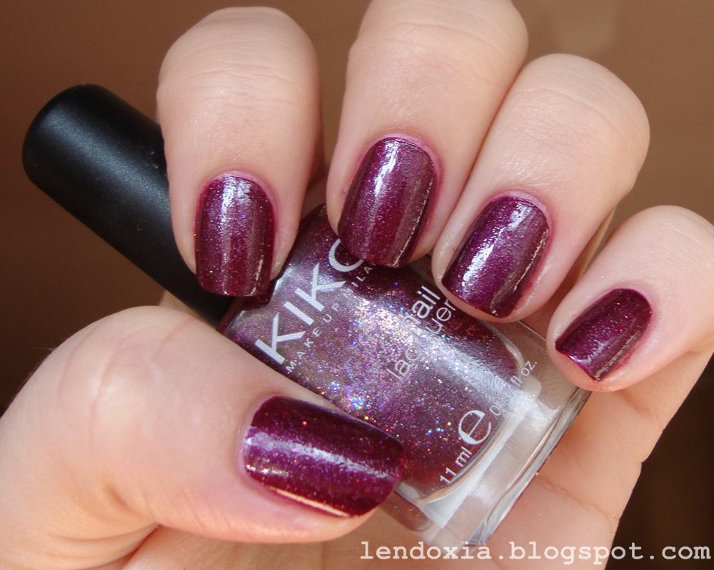kiko burgundy nail polish