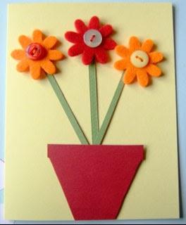 Cartão para o dia das mães de feltro
