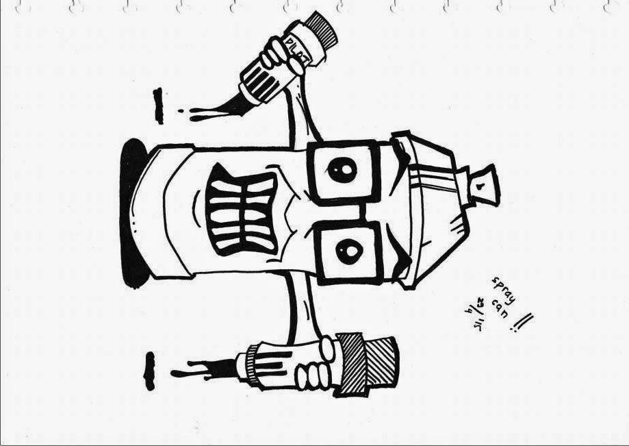 Melukis Graffiti Character Penandito