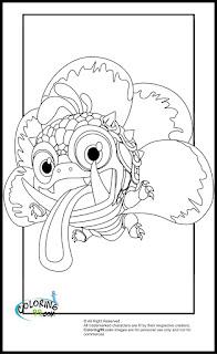 skylanders magic wrecking ball coloring pages
