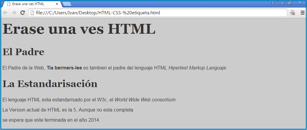 Aprendiendo con HTML Y CSS: Que es CSS