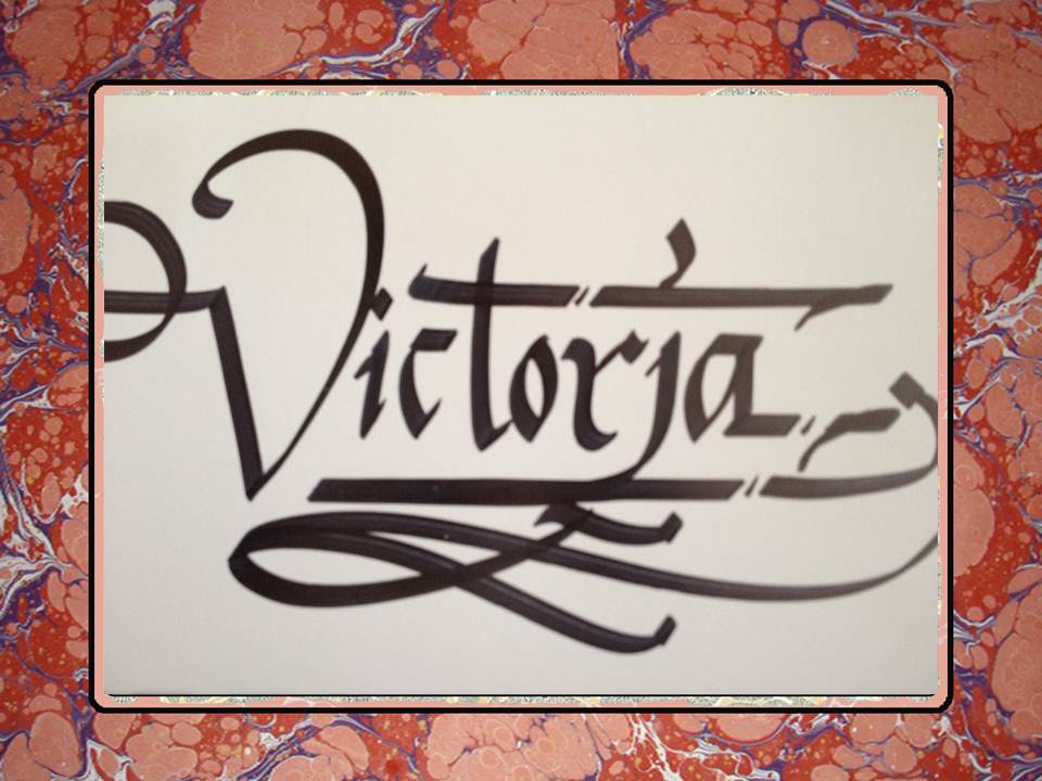 Calligraphy art victoria in