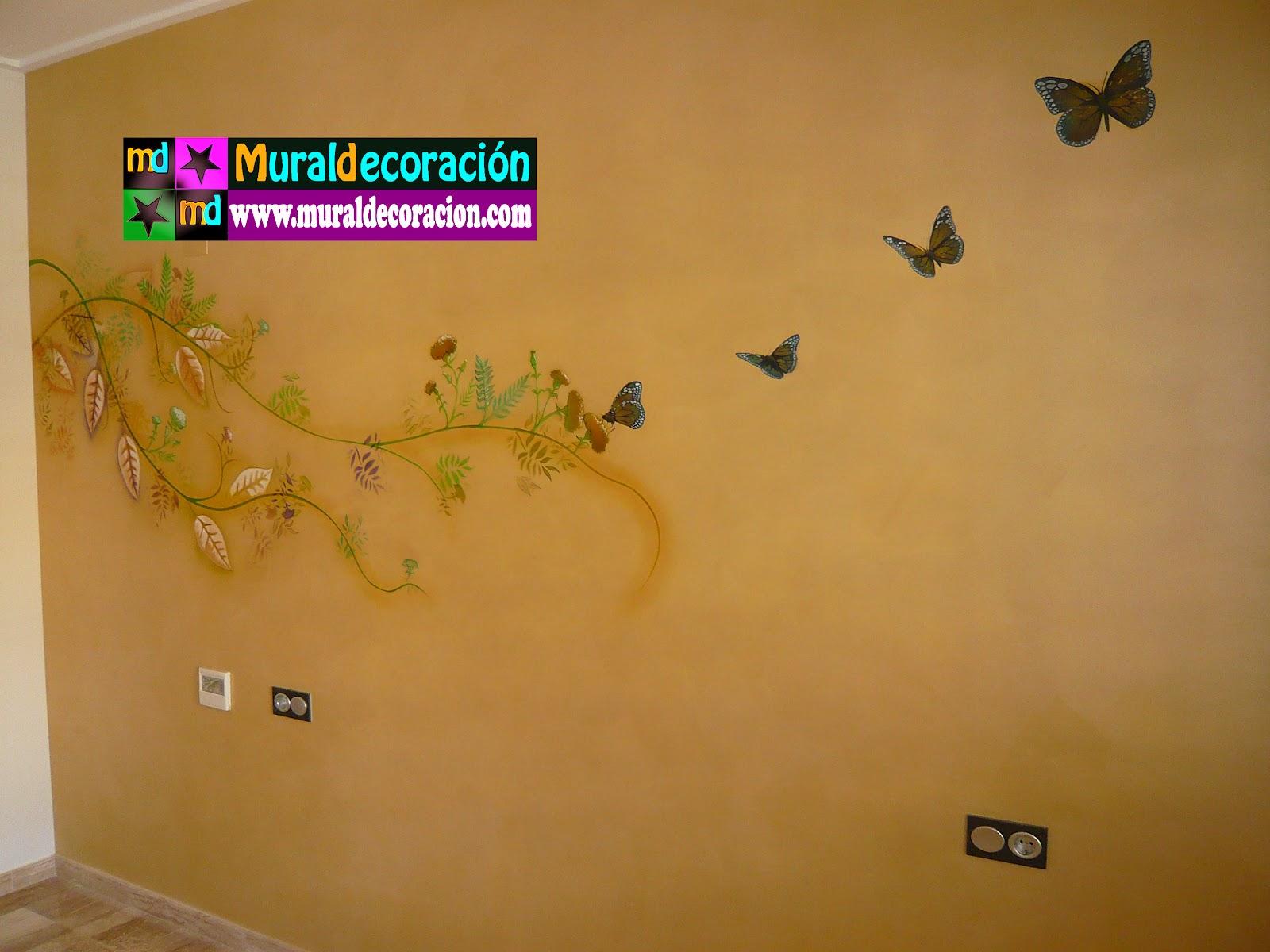 Murales infantiles mural para dormitorio de matrimonio - Decoracion pintura dormitorios ...