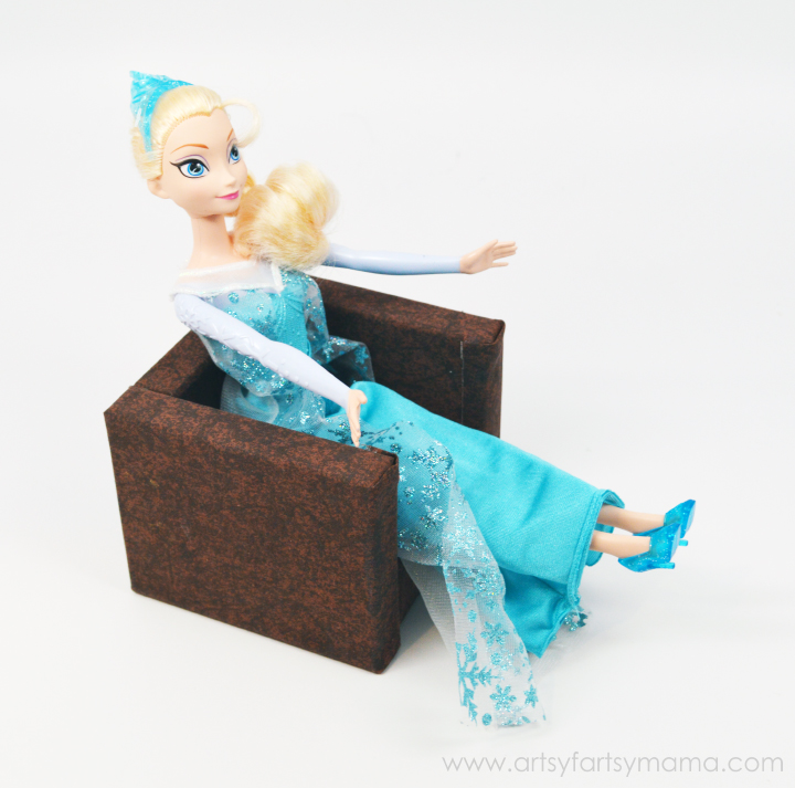 DIY Barbie Couch & Chair at artsyfartsymama.com #Barbie #BarbieFurniture