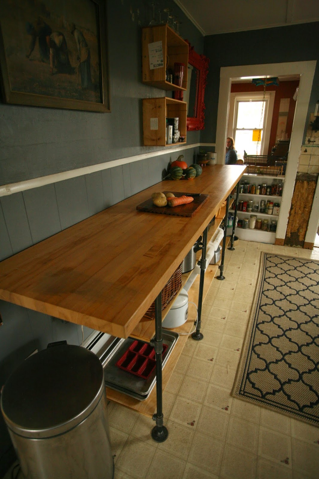 Whittled Down Life: DIY Black Pipe Kitchen Counter on homemade bed ideas, homemade cabinet ideas, homemade garage ideas, homemade fireplace ideas, homemade cutting board ideas, homemade backyard ideas, homemade bedroom ideas, homemade bookshelf ideas,