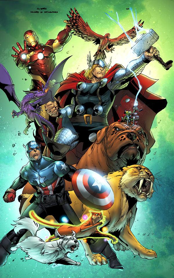 Avengers vs Pet Avengers 4 por chadf