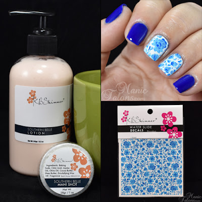 KBShimmer Mani Shot, Lotion and Water Slide Decal Review