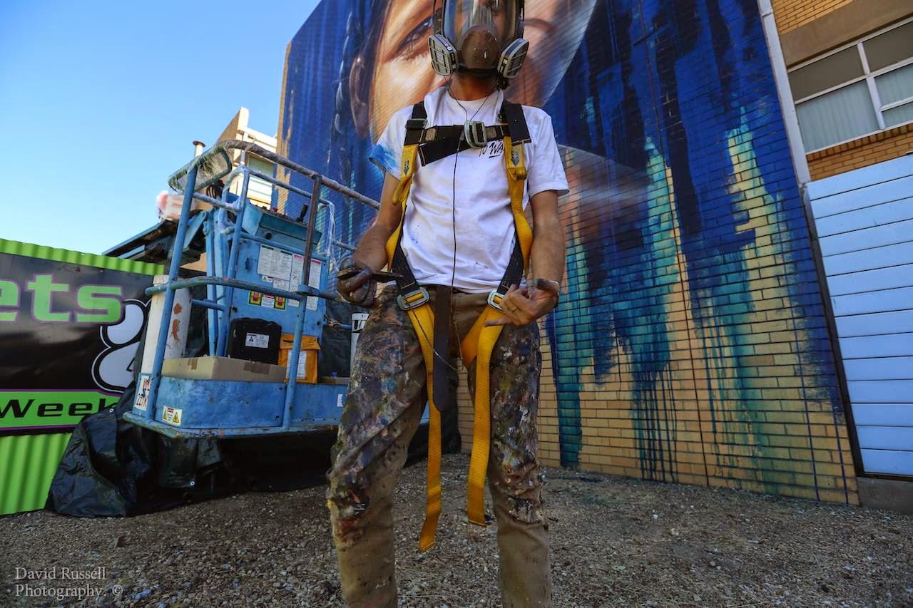 Adnate creates a new mural in benalla australia for wall for Australian mural