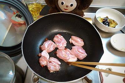 鶏ナスあんかけ蕎麦の作り方(2)