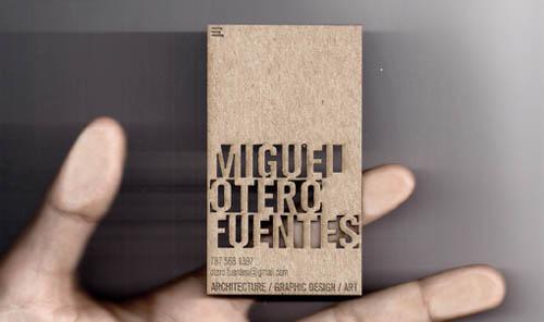 Cartões de visita criativos - Miguel Otero Fuentes - Arquitectura e Design