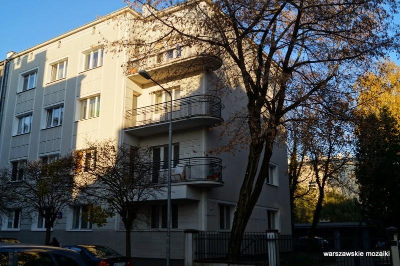 balkon Mokotów Warszawa numer domu zabudowa kamienice Stary Mokotów lata 30