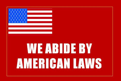 We abide by American Laws