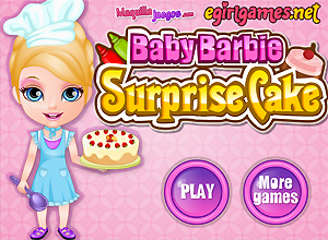 Baby Barbie Surprise Cake