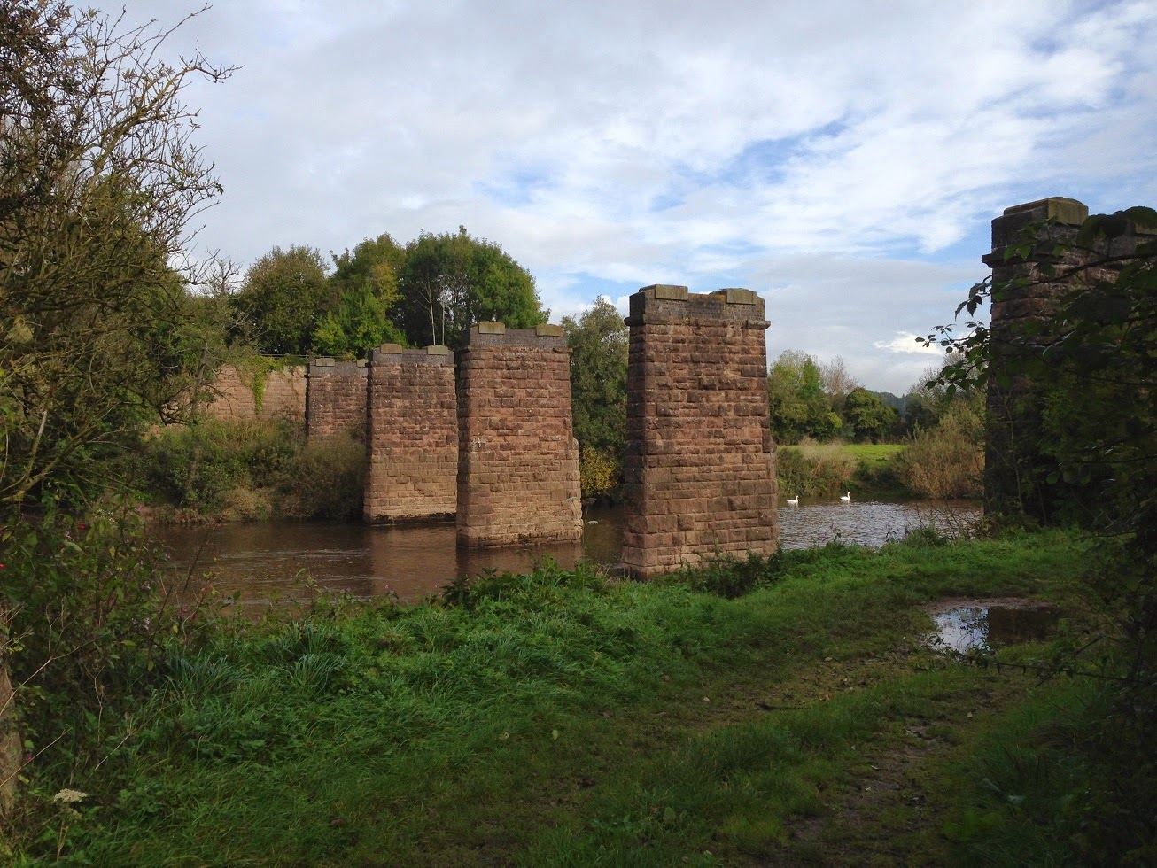 Remains of old railway bridge, Ross-on-Wye, Herefordshire
