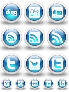 3D Sosyal Paylaşım Butonları [ Png ]