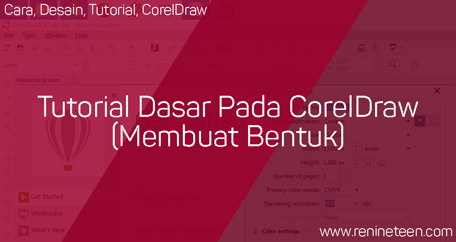 Tutorial Dasar Pada CorelDraw (Membuat Bentuk)
