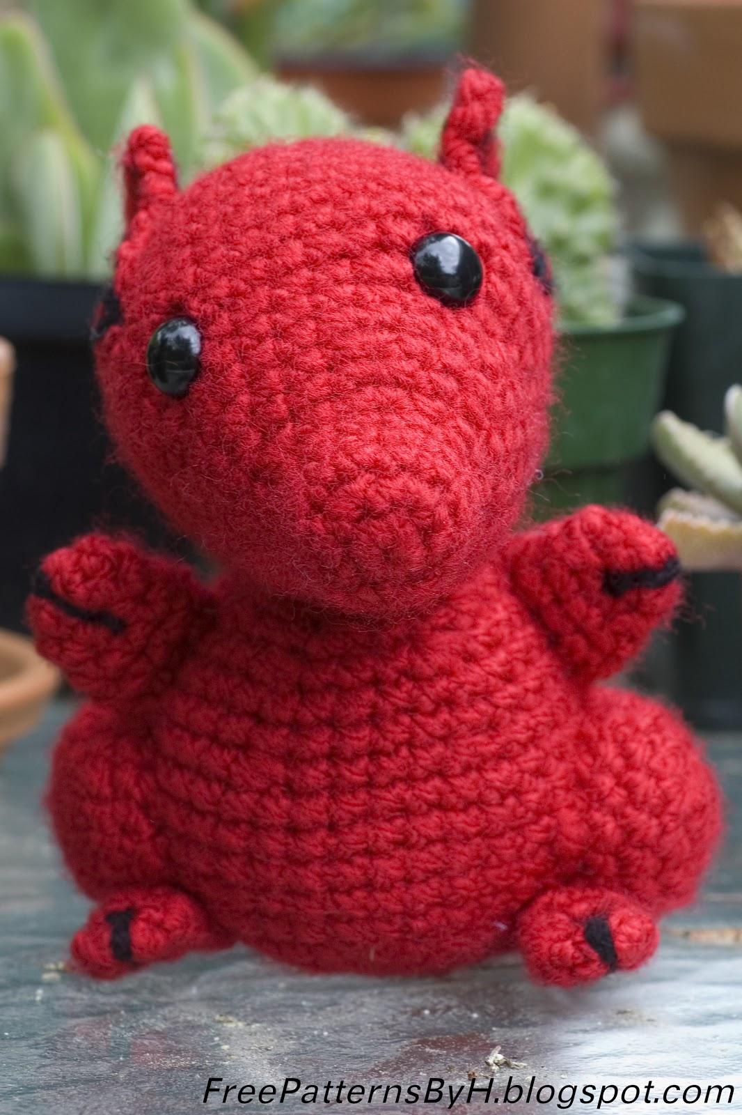 Welsh Dragon Free Crochet Pattern : Free Patterns by H: Hannahs Red Dragon