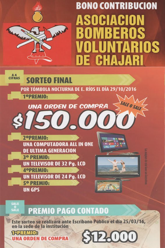 Bono Contribucion Bomberos Voluntarios.