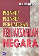 toko buku rahma: buku PRINSIP PRINSIP PERUMUSAN KEBIJAKSANAAN NEGARA   , pengarang irfan islami, penerbit bumi aksara