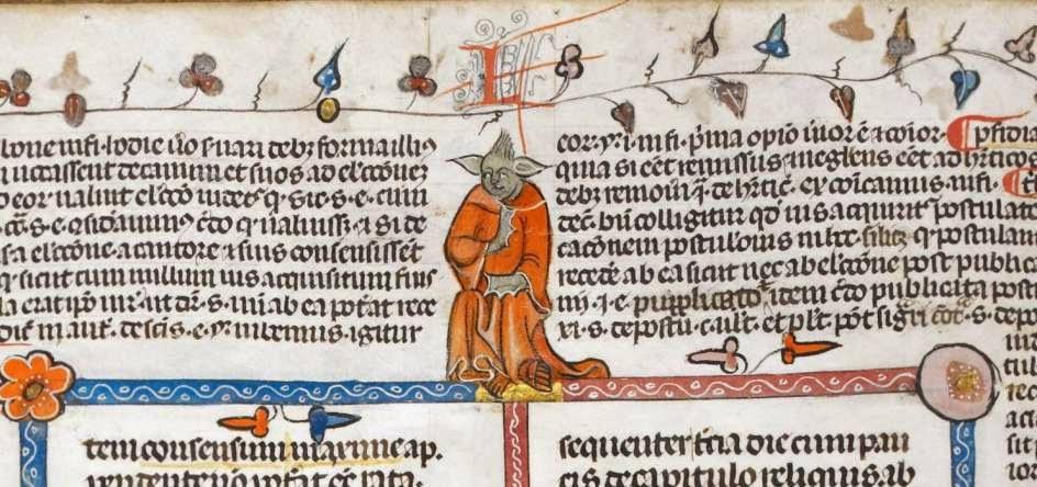 Encontraron a Yoda en manuscrito frances y te lo muestro