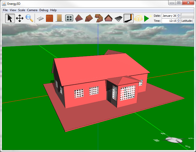 Make energy efficient house model