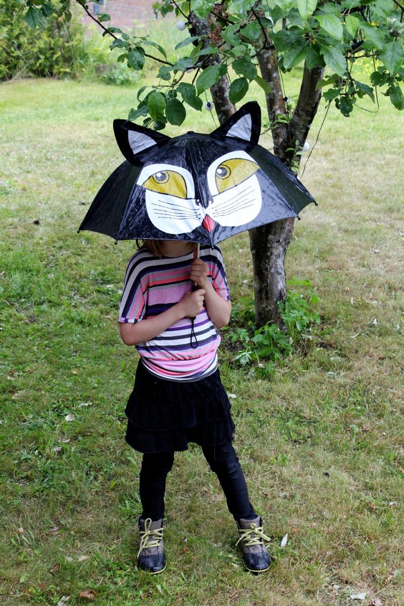Lasten musta sateenvarjo