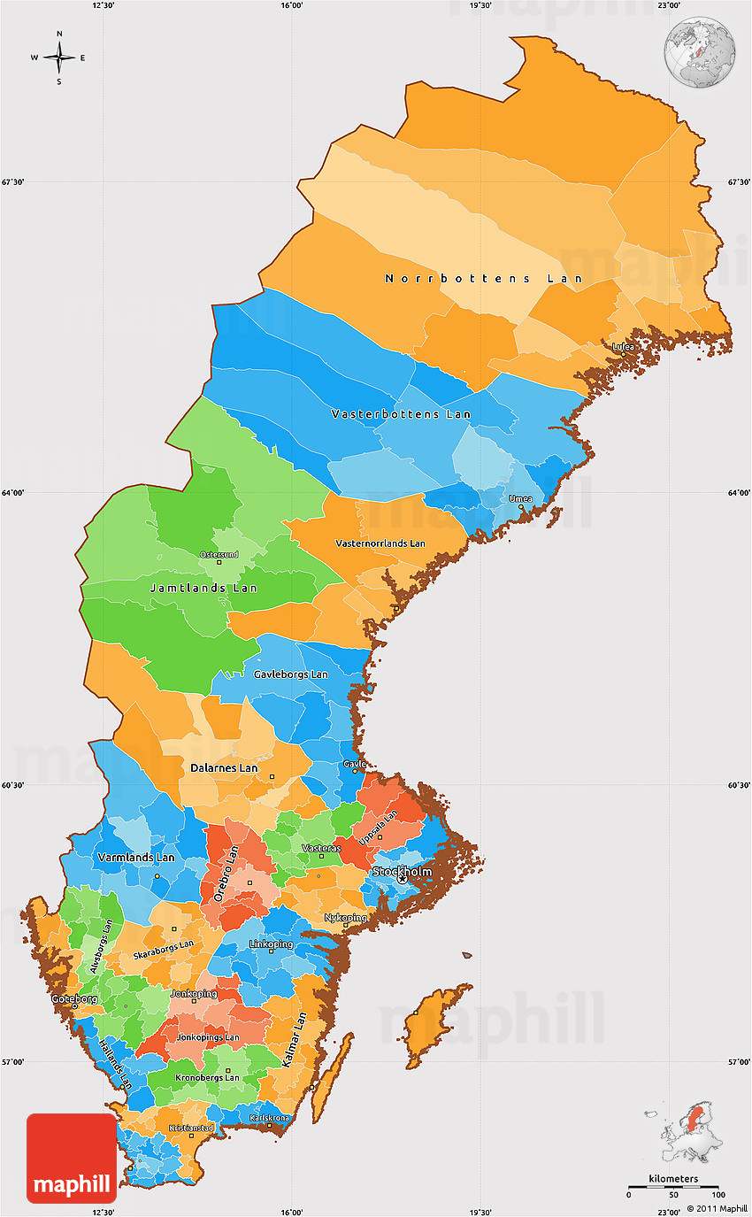 Sweden Blank Map Sweden Map Geography Physical Political - Sweden blank map