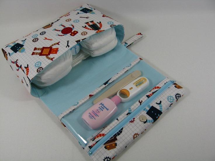 Sal da terra patchwork porta fraldas e organizador - Como hacer un cambiador para bebes ...