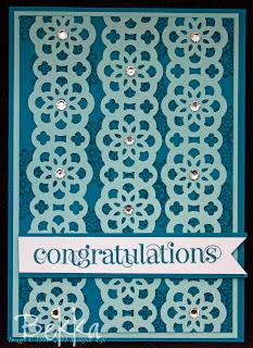 Delicate Doilies Contrgratulations Card