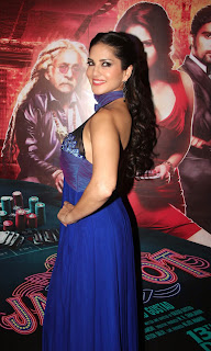 Sunny Leon Extremely Sexy Hot Cleavages at Jackpot Movie Launch Mumbai WOW