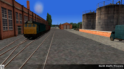 Fastline Simulation - North Staffs Minerals: A Class 25 shunts VDA vans in the sidings at the Wedgwood factory in North Staffs Minerals a route for RailWorks Train Simulator 2012.