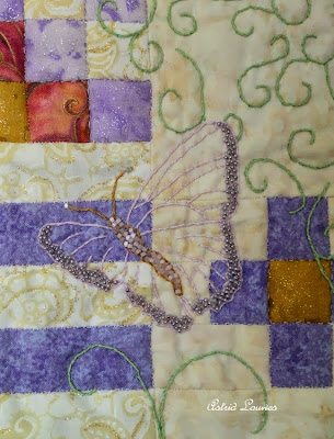 detail of quilt 'Magical World'