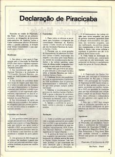 Encontro da Juventude Palestina em Piracicaba - 1985 -  doc 4